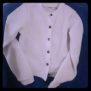 Girls casual white jacket